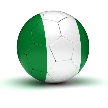 nigerian: Nigerian Football  isolated with clipping path