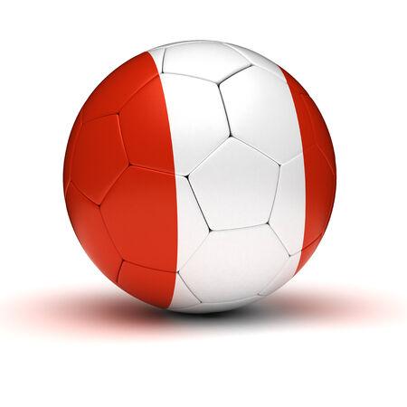 bandera de peru: Fútbol peruano aislado Foto de archivo