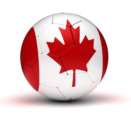 Canadian Football  isolated with clipping path  Imagens