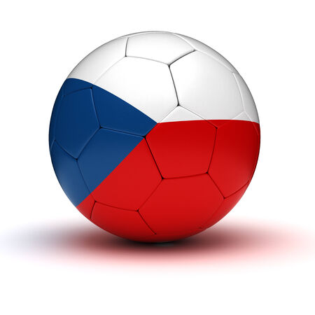 Czech Football  isolated with clipping path  photo