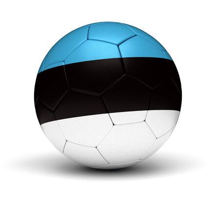 estonia: Estonian Football  isolated with clipping path