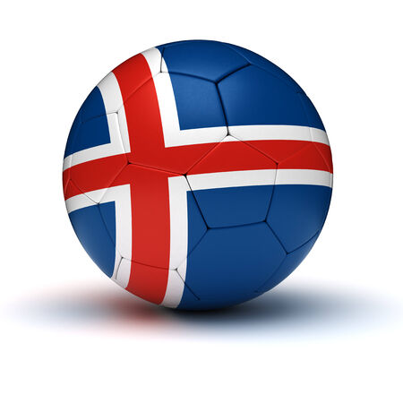 iceland: Icelandic Football  isolated with clipping path