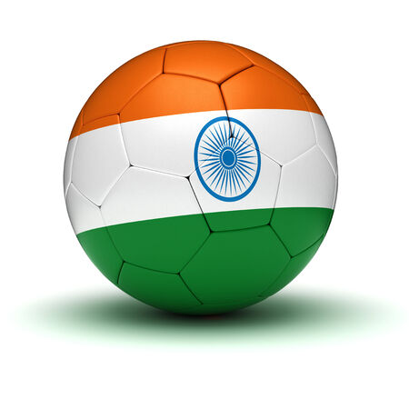 Indian Football  isolated with clipping path  photo