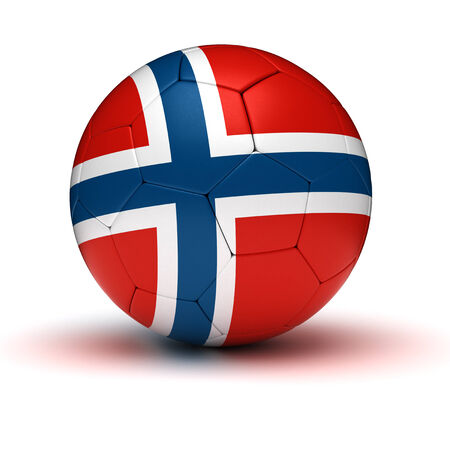norwegian flag: Norwegian Football  isolated with clipping path