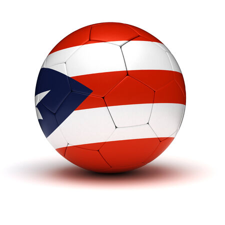 puerto rican flag: Puerto Rican Football  isolated with clipping path  Stock Photo