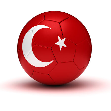 Turkish Football  isolated with clipping path  photo