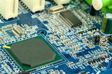 motherboard: Computer motherboard closeup