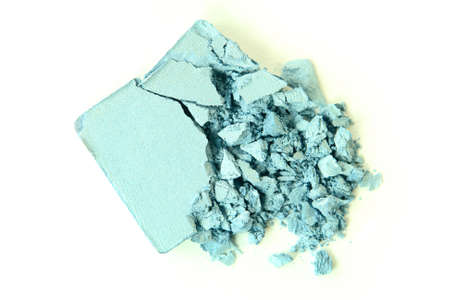 compact: Crushed Blue Eyeshadow Stock Photo