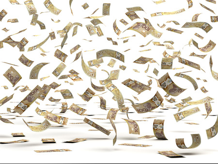 Voler dollars canadiens isolés avec chemin de détourage