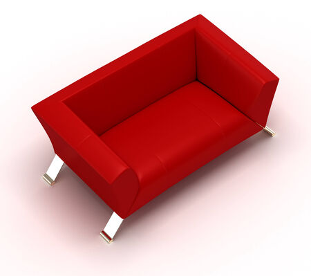 red sofa: Red Sofa Stock Photo