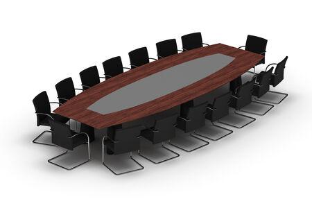 boardroom meeting: Meeting Table