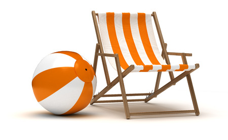 Beach Chair and Beach Ball photo