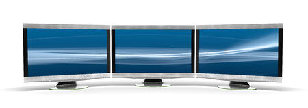 flatscreen: Three HD Display Stock Photo