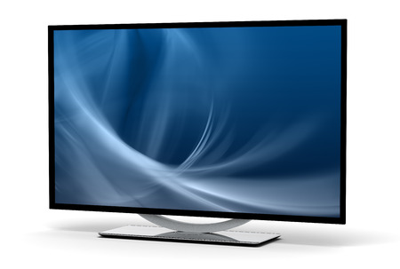 flatscreen: High-definition Television Stock Photo