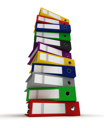 Stack of Binders photo
