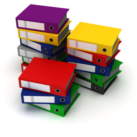 workload: Stack of Binders