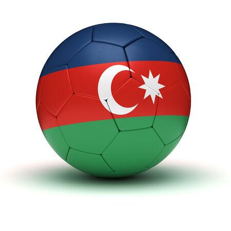 azerbaijan: Azerbaijan Football isolated with clipping path