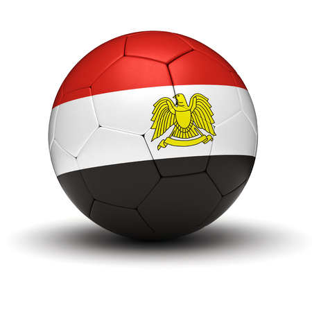 egypt flag: Egyptian Football  isolated with clipping path  Stock Photo