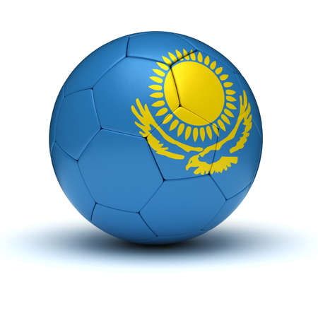 kazakh: Kazakh Football  isolated with clipping path