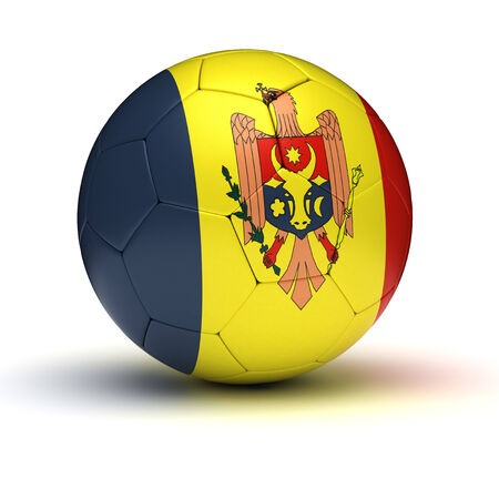moldovan: Moldovan Football  isolated with clipping path