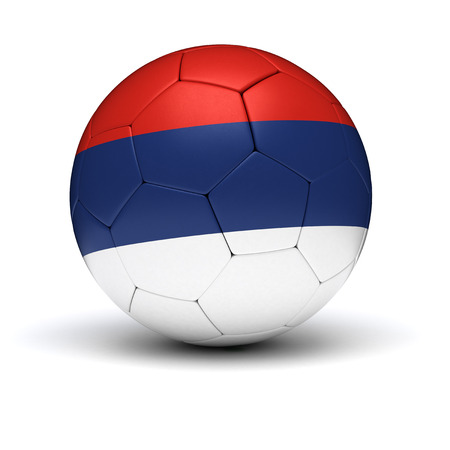 Serbian Football  isolated with clipping path  photo