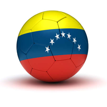 Venezuelan Football  isolated with clipping path  photo