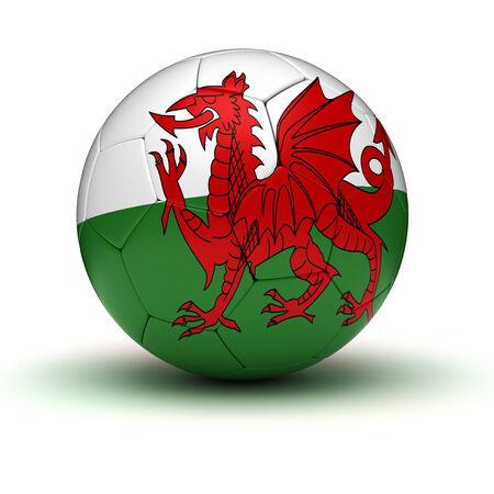 welsh flag: Welsh Football isolato con tracciato di ritaglio