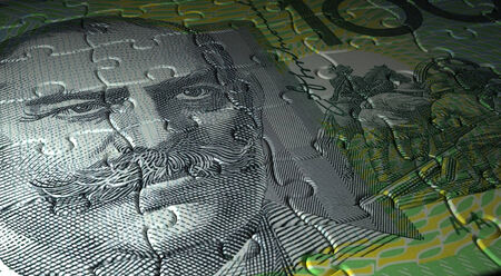 australian money: Australian Dollar Puzzle Stock Photo