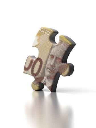 canadian dollar: Single Canadian Dollar Puzzle