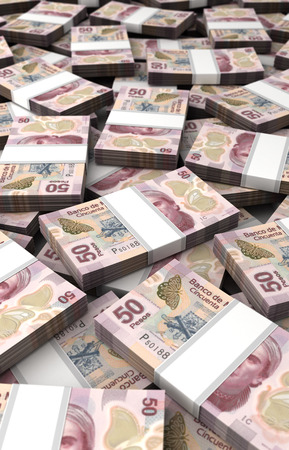Stack of Mexican Pesos photo