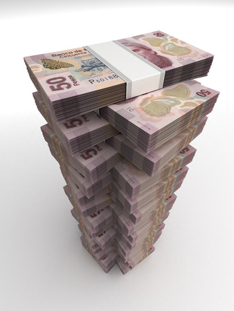 pesos: Mexican Pesos Tower Stock Photo