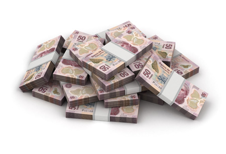 pesos: Stack of Mexican Pesos