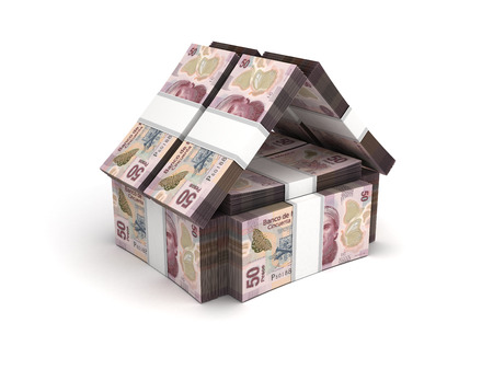 pesos: Real Estate Concept Mexican Pesos Stock Photo
