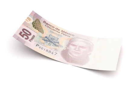 bad economy: Bad economy Mexican Pesos (isolated with clipping path)