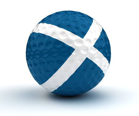 scottish flag: Scottish Golf Ball Archivio Fotografico