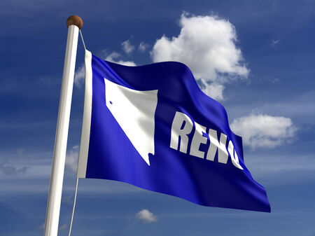 reno: Reno City flag (isolated with clipping path)