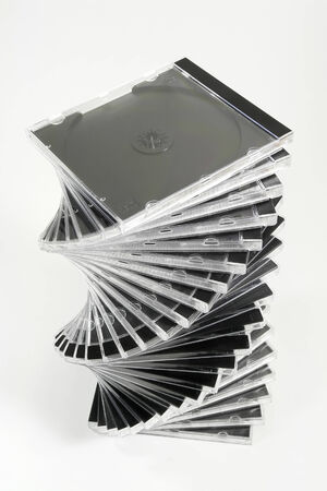 dvd case: Stack of CD