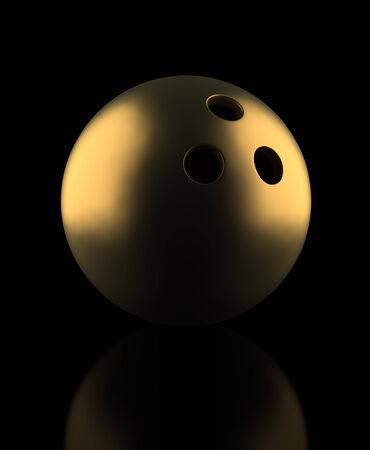 bowling ball: Golden Bowling Ball