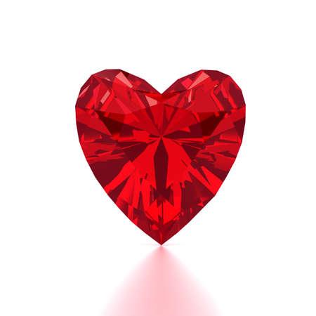 diamond shaped: Heart Shaped Red Diamond Stock Photo