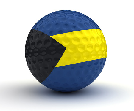 bahamian: Bahamian Golf Ball (Isolated with clipping path)