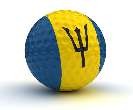 barbadian: Barbadian Golf Ball (Isolated with clipping path)