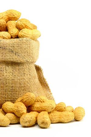 gunny bag: Peanut in Gunny Bag Stock Photo