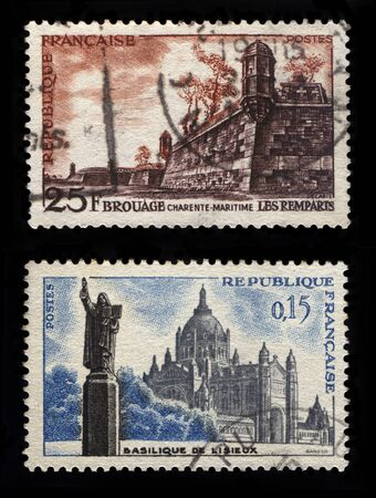 philatelic: French Postage Stamps Editorial