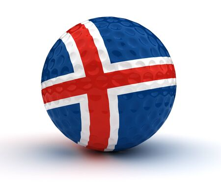 icelandic: Icelandic Golf Ball  Stock Photo