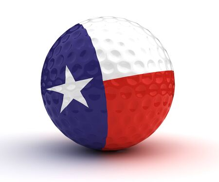 Texas Golf Ball Stock Photo