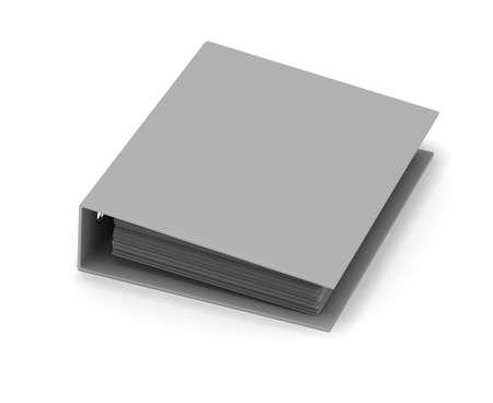 ring binder: Single ring binder on white background