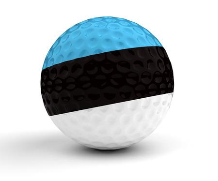 estonian: Estonian Golf Ball. Stock Photo