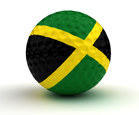jamaican: Jamaican Golf Ball. Stock Photo