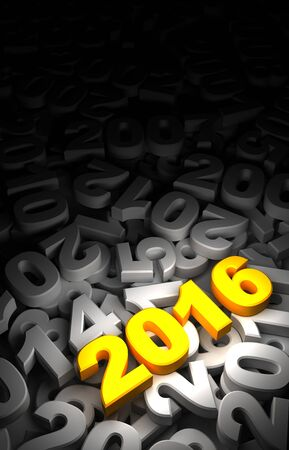 olds: New Year 2016 and Olds Stock Photo