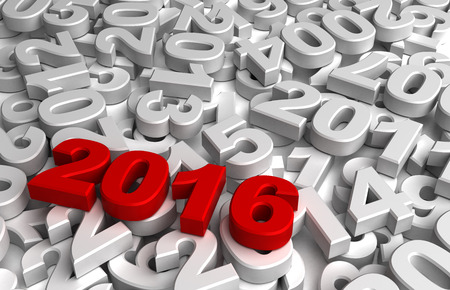 New Year 2016 and Olds Stock Photo